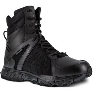Reebok Men's Duty Trailgrip Tactical 8″ Insulated Waterproof Side Zip Boot RB3455 | Black | 15-Standard | Nylon/Leather/Rubber | LAPoliceGear.com