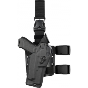 Safariland 6385RDS ALS OMV Tactical Drop-Leg Holster with Quick Release Leg Strap | Red | Nylon | LAPoliceGear.com