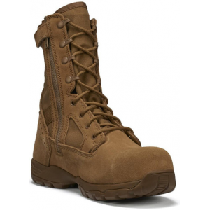 Tactical Research Men's Flyweight Coyote Hot Weather Side-Zip Composite Toe Boot | 14-Wide | Nylon/Leather/Rubber | LAPoliceGear.com