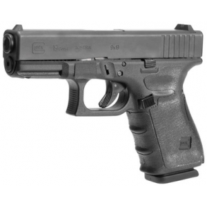Hogue Grips Hogue GLOCK 19, 19MOS, 23, 32 (Gen 4) Black Rubber Wrapter Adhesive Grip | LAPoliceGear.com