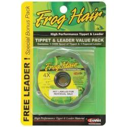 Frog Hair Tippet Guide 100m And 9 1/2ft Leader Supple Butt Value Pack -  4X