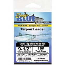 Frog Hair Deep Blue Tapered Tarpon Leader 16lbs 9.5' (1/pk) - Fly Fishing