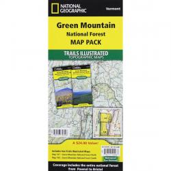 National Geographic Trails Illustrated Green Mountain National Forest Map Pack Bundle