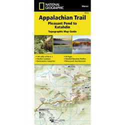 National Geographic Appalachian Trail, Pleasant Pond To Mount Katahdin Topographic Map Guide
