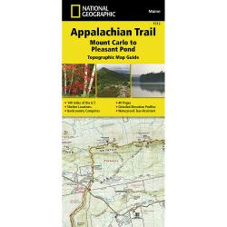 National Geographic Appalachian Trail, Mount Carlo To Pleasant Pond Topographic Map Guide