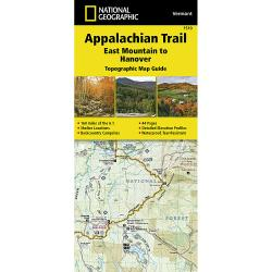 National Geographic Appalachian Trail, East Mountain To Hanover Topographic Map Guide