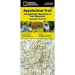National Geographic Appalachian Trail, Schaghticoke Mountain To East Mountain Topographic Map Guide