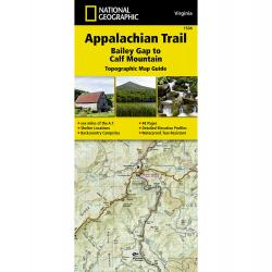 National Geographic Appalachian Trail, Bailey Gap To Calf Mountain Topographic Map Guide