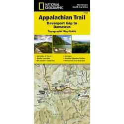 National Geographic Appalachian Trail Davenport Gap To Damascus Map Guide