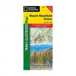 Nat Geo Mount Mansfield Stowe Map