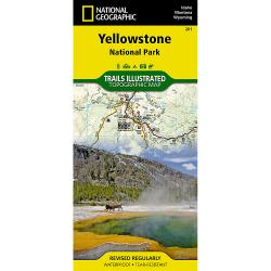 National Geographic Trails Illustrated Yellowstone National Park