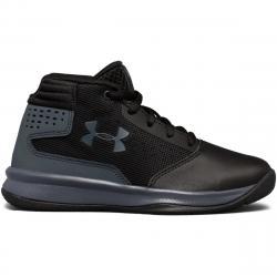 Under Armour Boys' Pre-School Ua Jet 2017 Basketball Shoes, Black/rhino Grey