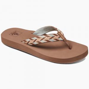 Reef Womens Mid Seas Sandals, Mocha Peach - Size 6