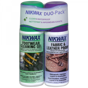 photo: Nikwax Footwear DuoPack Fabric & Leather footwear cleaner/treatment
