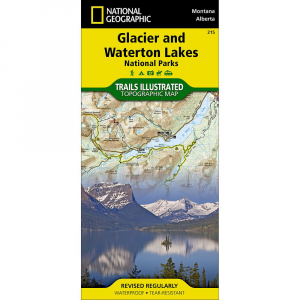 National Geographic Glacier/Waterton Lakes National Parks Map