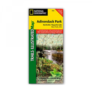 Nat Geo Adirondack Park Map Northvilleraquette Lake