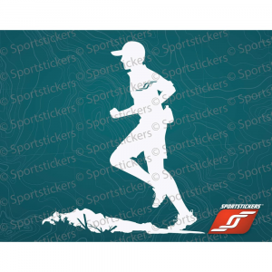 Sportstickers Trail Runner, White