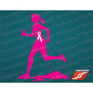 Sportstickers Womens Trail Runner Pink