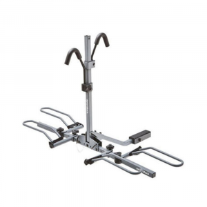 sportrack sr2901 2 bike platform hitch rack- Save 20% Off - This 2-bike platform hitch rack from SportRack folds down for rear vehicle access.This product will be shipped directly from SportRack and will leave their warehouse in 2-3 business days. Eligible for UPS ground shipping only. . Moveable rubberized hooks secure the bike to the rack while protecting the finish. Center folds down for rear vehicle access and folds up when not in use. Hooks and wheel trays adjust to fit almost all bike frames and sizes. Fits 1 1/4 in. and 2 in. receivers. Holds up to 2 bikes. Max weight of 90 lb. / 40 kg.