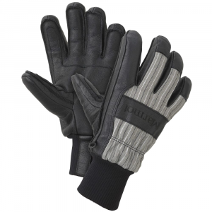 marmot men's lifty gloves- Save 50% Off - Marmot's Lifty Gloves with Thermal R insulation and MemBrain inserts provide warmth and waterproof, windproof protection with an under-cuff design to fit under jacket sleeves. Nylon twill fabric with leather reinforced palm (washable leather). MemBrain glove insert provides waterproof, windproof protection and breathable comfort. Thermal R polyester insulation for durable warmth. DriClime 3-dimensional lining wicks moisture to help keep hands dry and warm. Out-finished seams on palm for unparalleled fit and function. Leather knuckle reinforcement. Under-cuff design fits under jacket sleeve. Falcon grip articulation for dexterity and easy gripping.