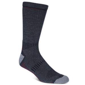 Ems Men's Fast Mountain Lightweight Merino Wool Crew Socks, Charcoal