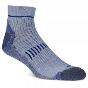 Ems Men's Fast Mountain Lightweight Wool Quarter Socks, Grey