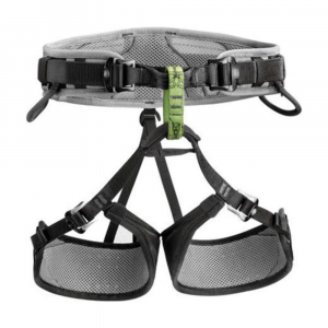 petzl calidris climbing harness- Save 25% Off - The wide waist belt and leg loops of the Petzl Calidris provide all the comfort, support and ventilation needed for long aid routes and other activities requiring extended periods of hanging. Breathable mesh exterior, closed cell perforated foam padding, and polyester 3D wicking mesh provide maximum ventilation. Bias webbing transfers load and distributes pressure over entire surface area of the waist belt and leg loops. DoubleBack buckles on leg loops different-sized climbers or when wearing different thicknesses of clothing. Two DoubleBack buckles allow waist belt to be centered and adjusted in a single movement. Elastic slots with tabs to tuck away excess waist belt webbing. Largest size range of all Petzl harnesses. Four gear loops for organizing and carrying gear. Green belay loop is easily identifiable for connecting a descender/belay device. Tie-in points are reinforced for increased resistance to abrasion. Detachable elastic leg loop straps.