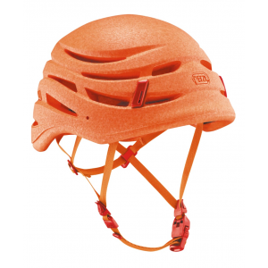 petzl sirocco climbing helmet- Save 25% Off - Protect your head without weighing it down. The Petzl Sirocco climbing helmet is so comfortable and so lightweight, you'll probably forget that you're even wearing it!. . . Monobloc shell made from expanded polypropylene minimizes weight without compromising impact resistance. Excellent ventilation distributed around the shell helps keep you cool, dry, and comfortable. Removable quilted foam liner adds extra comfort. Fully adjustable to fit a range of head shapes. Magnetic buckle makes it easy to manipulate with one hand. Two hooks and rear elastic allow for headlamp attachment. Size 1 fits 48-56 cm head circumference; Size 2 fits 53-61 cm head circumference. Size 1 weighs only 145 g (531 oz.); Size 2 weighs only 165 g (5.8 oz.).