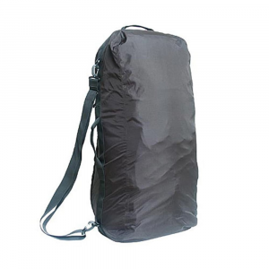 sea to summit pack converter, medium- Save 39% Off - A protective duffel bag for checking a backpack as luggage, The Sea to Summit Pack Converter works as a rain cover during travel and trekking. . Medium fits packs: 3000-4300 cu. in. (50-70 liters). A duffel bag for checking a backpack as luggage; protects buckles and straps from handling. Converts to a rain cover for trekking; made from tough, waterproof 210-denier ripstop. Provides added security when traveling through airports and train stations. Contoured to fit internal frame packs. Stowaway shoulder strap included. Two carry handles, internally reinforced. All seams are tape sealed for complete waterproof protection. Can be used on its own as a lightweight duffel. Search Item # 3926527 for size Large
