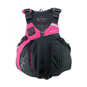 stohlquist women's betsea pfd- Save 30% Off - With a new ergonomic Wrapture-shaped torso for a close, low-profile, and comfortable fit, the Stohlquist BetSEA PFD also features a cross-chest cinch harness to eliminate ride-up while providing effective water buoyancy. Ergonomic Wrapture-shaped torso wraps around the body for a close, low-profile, and comfortable fit. Built-in contoured supportive inner cups wrap rather than crush; hand beveled foam for a closer, more comfortable fit. Cross-chest cinch harness keeps flotation positioned low on the torso, eliminating ride-up. Princess seams inside and out for a feminine fit; high waistline cut. Ventilated shoulder and lumbar pads for breathable comfort. Adjustable shoulder straps; extra wide armholes for maximum mobility. 1 in. webbing belt with forward pulls for a trim and secure fit. Two large zippered pockets for easy accessibility and storage. Lined handwarmer pockets. Key attachment point inside front pocketKey attachment point inside front pocket. Webbing hang loop for drying and storage. 4-way accessory lash tabs located on chest and back shoulder; 3M reflective trim on both front back shoulder. #10 YKK front zip entry. 500D Cordura shell; 200D oxford liner. Type III PFD with sea level buoyancy of 16 lb. 10 oz.; UL and ULC listed; USCG and Transport Canada approved. Sizing: S/M: 28-34 in.; L/XL: 35-40 in.; Plus: 40-46 in..