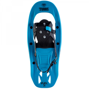 tubbs boys flex jr. snowshoes- Save 20% Off - Keep him equipped for adventures beyond the backyard with the Flex Jr. Snowshoes. Constructed with a shock-absorbing FLEX Tail(TM) deck and earth-gripping Traction Rails, these snowshoes provide the stability and all-day comfort he needs to make the most of his outdoor excursion. FLEX Tail(TM) absorbs impacts and reduces stress on the joints Rotating Toe Cord design lets the tail drop to allow for snow to fall off Underfoot pivot point bites into the snow for added traction Torsion Deck(TM) provides enhanced comfort, traction and stability on uneven terrain QuickLock binding provides adjustable fit and easy on-and-off access Traction Rails with varying tooth height for added grip on icy trails Molded Snow Brakes and a Soft Strike Zone provide improved traction Recommended for ages 6 to 10 years old Recommended weight limit: 40 to 90 lb. Fits boot sizes junior size 11 to mens size 6 2 lb. total snowshoe weight