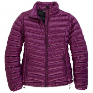 ems womens icarus down jacket - high rise- Save 25% Off - Ideal for cold-weather outings, this ultralight jacket is insulated with 800-fill water-resistant down. . 800-fill DownTek-treated goose down keeps you warm even in wet conditions. DWR shell finish sheds light rain and snow. Packs into its own internal chest pocket. Can be worn alone or as part of a layering system. Zippered front pockets. Elastic cuffs. Draft flap behind front zipper with zipper garage. Brushed chin guard for soft comfort. Drop-tail hem for added coverage and warmth. Hem cinch cords to seal in warmth.