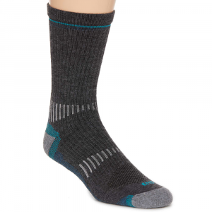 Ems Women's Fast Mountain Lightweight Merino Wool Crew Socks, Charcoal