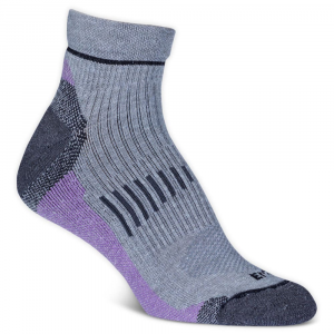 Ems Women's Fast Mountain Lightweight Wool Quarter Socks, Grey