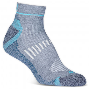 Ems Women's Fast Mountain Lightweight Coolmax Quarter Socks, Grey