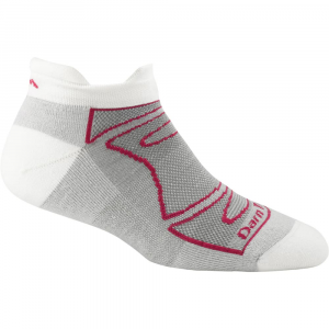 darn tough women's no-show light cushion run/bike socks- Save 25% Off - Designed for running and biking, No-Show Light Cushion Socks for women deliver a blister-free, foot-hugging fit with light cushion that's Darn Tough.. . Made from soft merino wool, nylon, and Lycra spandex in a high-density knit for