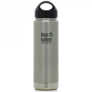 Klean Kanteen Stainless Steel Wide Mouth Insulated Bottle, 20 Oz.