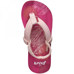 Reef Girls Little Ahi Flip Flops Pink Crayon