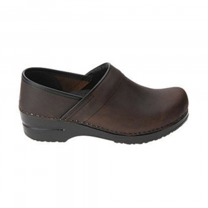 Dansko Women's Professional Clogs, Antique Brown Oiled
