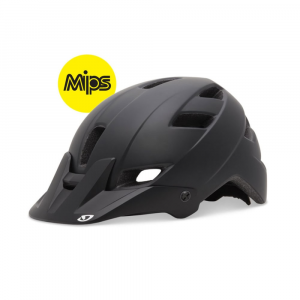 giro feature mips bike helmet- Save 30% Off - A trail-ready helmet with skate-style design and a smooth profile, the Giro Feature bike helmet offers extra coverage and high performance for long MTB days.  In-mold construction bonds the helmets outer shell to its EPS foam layer to provide a sturdier, more solid helmet.  In-Form fit system features more surface area in the back to cradle the back of your head; adjusts in two ways (circumference and fore/aft tilt) to give you the best possible fit.  12 vents with internal channeling increase airflow so you stay cooler and more comfortable.  Adjustable, moto-style visor is longer to offer better protection from the sun; easily tilts out of the way when you dont need it.  Plush padding ensures comfort and fit while soaking up sweat.  Goggle-compatible for muddy trail rides.  Size small fits head circumferences 20-21.75 in. (51-55 cm).  Size medium fits head circumferences 21.75-23.25 in. (55-59 cm).  Size large fits head circumferences 23.25-24.75 in. (59-63 cm).
