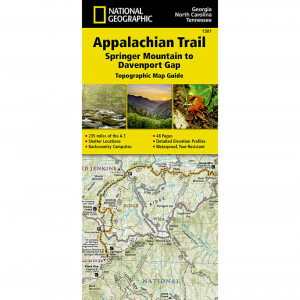National Geographic Appalachian Trail Springer Mountain To Davenport Gap Map Guide