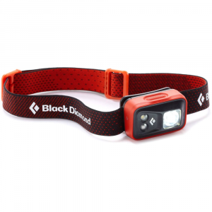 black diamond spot headlamp- Save 29% Off - Sleeker, brighter, and even more powerful than ever before, the redesigned Black Diamond Cosmo is a super-versatile headlamp that provides all the features and power you need at a price that won't break the bank.. . This product will be shipped directly from Black Diamond and will leave their warehouse in 2-3 business days. Eligible for UPS ground shipping only.  1 TriplePower LED and 2 SinglePower LEDs provide up to 90 lumens on max setting.  1 SinglePower red LED helps preserve night vision; red proximity and strobe settings are accessible without having to cycle through white light modes.  Settings include: full strength (proximity and distance modes), dimming, strobe, and red night vision.  Lock mode prevents accidental turning on and battery drain.  Sleek, low-profile design utilizes 3 AAA batteries (rechargeable, alkaline, or lithium; lithium batteries included).  Protected against splashing or sprayed water from any angle (IPX4).  Imported.