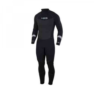 nrs men's radiant 4/3mm wetsuit - size m- Save 30% Off - For the ultimate combination of performance, comfort, and value, SUP-inspired NRS Radiant Wetsuits can't be beat. The Men's Radiant 4/3 mixes 4 mm and 3 mm neoprene for maximum warmth without limiting mobility. 4 mm Terraprene neoprene in the chest, back, shoulders, and most of the legs provides warmth where you need it most. 3 mm Terraprene under the arms, along the sides of the chest, and behind the knees allows excellent mobility for paddling, rowing, and swimming. Titanium laminate adhesive reflects heat back to your body to keep you warmer. Exclusive VaporLoft lining eliminates clamminess and feels soft and warm against your skin. PowerSpan exterior fabric stretches with your every movement for unrestricted range of motion. Smooth-skin neoprene on the chest and back reduces evaporative cooling. Heavy-duty YKK zipper is on the back so you can paddle your SUP, surf, or body board in comfort. Durable glued and blind-stitched seams reduce water entry and are smooth and comfortable against the skin. S-Seal liquid sealant waterproofs the seams; water-resistant zipper reduces water entry. S-Seal liquid sealant waterproofs the seams; water-resistant zipper reduces water entry ToughTex pads protect your knees when kneeling on your board or on shore