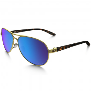 Oakley Womens Feedback Sunglasses, Polished Gold