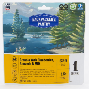Backpackers Pantry Granola With Blueberries And Milk