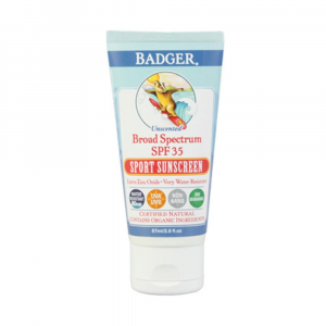 photo of a Badger sunscreen/bug repellent