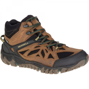 Merrell Men's All Out Blaze Ventilator Mid Waterproof Hiking Shoes, Merrell Tan