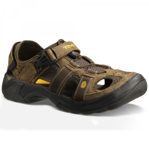 Teva Mens Omnium Leather Sandals, Brown