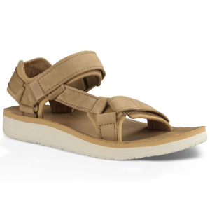 Teva Womens Original Universal Premier Leather Sandals, Tan