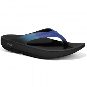 Oofos Womens Oolala Thong Sandals, Bluejay/black